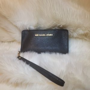 Michael Kors Black Wallet Wristlet